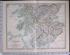 1904 LARGE MAP SCOTLAND SOUTH SHEET ARGYLL PERTH AYR SELKIRK LANARK