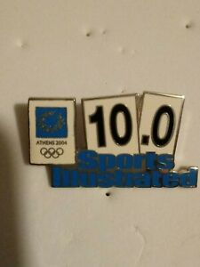 2004 ATHENS OLYMPICS Olympic PIN BADGE MEDIA Sports Illustrated 10.0