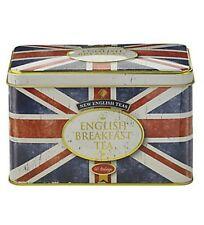 Retro Style Union Jack Tea Tin Caddy With English Breakfast tea