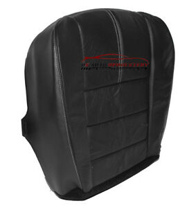 2008-2010 Ford F250 F350 Lariat 4X4 Quad Driver Bottom LEATHER Seat Cover Black