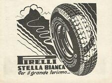 W0857 PIRELLI stella bianca per il gran turismo - Pubblicità 1933 - Advertising