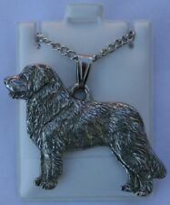 Leonberger Dog Harris Fine Pewter Pendant w Chain Necklace Usa Made
