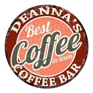 CBCB0261 DEANNA'S COFFEE BAR Sign Mother's day Birthday Christmas Gift Ideas