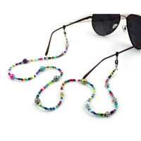 Reading Glasses Chain Colorful Beads Sunglasses Holder Neck Strap Metal Rope New