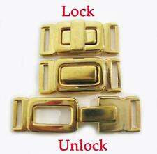 1 x Gold Plated Metal Trousers Jackets Closures / connectors Purse/Wallet buckle