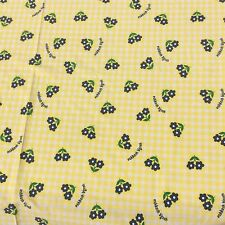 OSHKOSH B'GOSH TM Fabric Cotton Blend Sheeting Yellow Check Navy Floral Sew