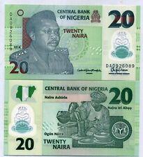 NIGERIA 20 NAIRA 2016 P 40 POLYMER ERROR PRINT SERIAL NUMBER CLOSE TO SIGN UNC