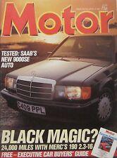 Motor magazine 4/4/1987 featuring Saab road test, Mercedes, Volkswagen Polo G40