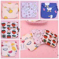 Women Napkin Tampons Holder Towel Pads Canvas Bags Organizer Small Sanitary Bag