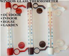 WINDOW GLASS THERMOMETER OUTDOOR INDOOR HOUSE GARDEN GREENHOUSE