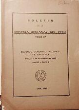 Boletin de la Sociedad Geologica Peru 37 1961 Segundo Congreso Geologia - II