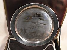 The Danbury Mint Sterling Silver The Boston Tea Party - 1773  Bicentennial Plate