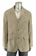 Ralph Lauren Polo Gray Suede Leather Blazer Jacket 40 L New $995