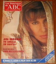 LOS DOMINGOS DE ABC 1986 Ana Obregon Jose Maria Garcia revista magazine