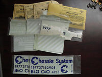 Lot of Vintage O Scale Miscellaneous Locomotive and Train Car Decals