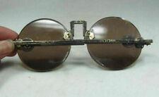 Old collection Chinese Shanghai Oriental Vintage Dark brown Crystal glasses