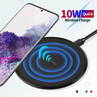 Qi Wireless Charger Fast Charging Pad for iPhone 11 Pro XS Max Samsung S20 S10+