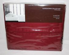 500TC Hudson Park FULL Flat Sheet Solid Red Wine Dark Burgundy Double Bed PIMA