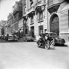 LE BOURGET c. 1954 -Autos Diplomatiques Gendarme Moto- Négatif 6 x 6 - N6 IDF115