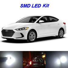 8 x White LED Bulbs for 2017 2018 Hyundai Elantra License Plate + Interior Light