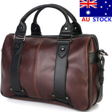 Large Men's Vintage Satchel Leather Messenger Briefcase Shoulder Bag Handbag New
