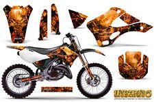 KAWASAKI KX125 KX250 99-02 GRAPHICS KIT CREATORX DECALS INFERNO O