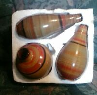 Vintage 3 Pc. Pottery Vase Set