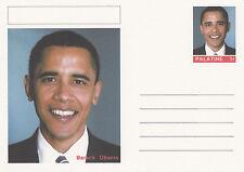 CINDERELLA - 4448 - BARACK OBAMA  on Fantasy Postal Stationery card