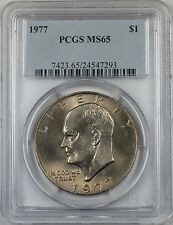 1977 Eisenhower  Ike Dollar $1 Coin PCGS MS65 (BR-37 F)