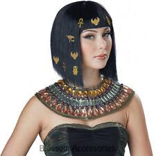 W436 Black Womens Hair-O-Glyphics Egyptian Cleopatra Nile Costume Halloween Wig
