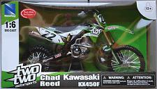 NEWRAY-KAWASAKI kx450f 2014 TWOTWO Motorsports/Chad Reed 1:6 Nuovo/Scatola Originale