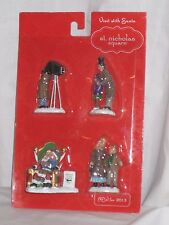"St. Nicholas Square Village Christmas ""Visit With Santa"" (4 figure set)"
