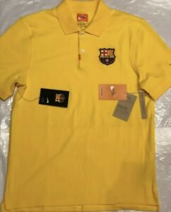 FC Barcelona Barca Yellow Polo Nike Mens size XXL
