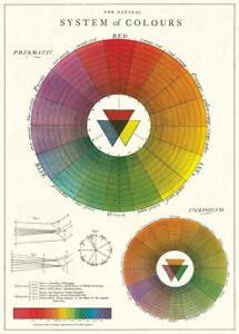 """Color Wheel Chart Decorative Paper Sheet 20"""" x 28"""" Wall Poster For Kids"""
