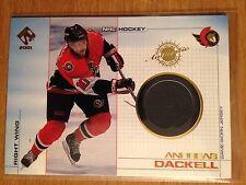 2000/1 Private Stock Game Worn Gear Andreas Dackell jersey card Senators