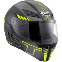 CASCO MODULARE AGV COMPACT ST SEATTLE MATT BLACK-SILVER-YELLOW FLUO TAGLIA XL