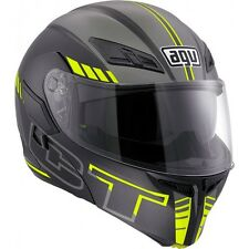 CASCO MODULARE AGV COMPACT ST SEATTLE MATT BLACK-SILVER-YELLOW FLUO TAGLIA L