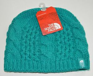 the north face youth girls kokomo green cable minna beanie small