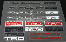 Toyota TRD Rally Development Sticker Wheel Emblem Logo Camry Supra Celica 86 Rav