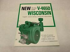 Wisconsin Engine Dealer Spec Flyer Brochure V-465D