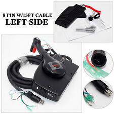 Outboard 8 Pin 15ft Mercury Motor Engine Remote Control Box Boat Left Side Mount