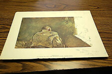 """Rare Andrew Wyeth Ink-Signed """"Spring Sun"""" Print  S4675"""