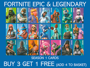 Panini Fortnite Trading Cards Series 1 Epic & Legendary - Buy 3 Get 1 Free