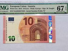 EU / Austria, 2014 10 Euro P21n PMG 67 EPQ