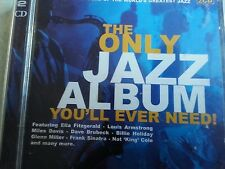 ONLY JAZZ ALBUM YOU'LL EVER NEED Various DOUBLE CD