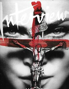 Interview Magazine Madonna Fashion David Blaine Artist Kaws Karen Elson 2010