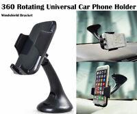 360 Rotating Universal Car Phone Holder Windshield Bracket (No dashboard)