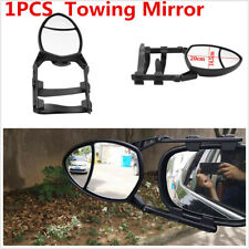 1pcs Oval Car Trailer Extension Towing Mirror Adjustable Clip-On Universal Black