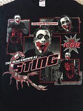 TNA Sting T-Shirt Joker The Icon Small S Impact Wrestling WWE WCW Crow impact