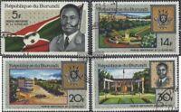 Burundi 378A-381A (kompl.Ausg.) gestempelt 1967 1 Jahr Republik